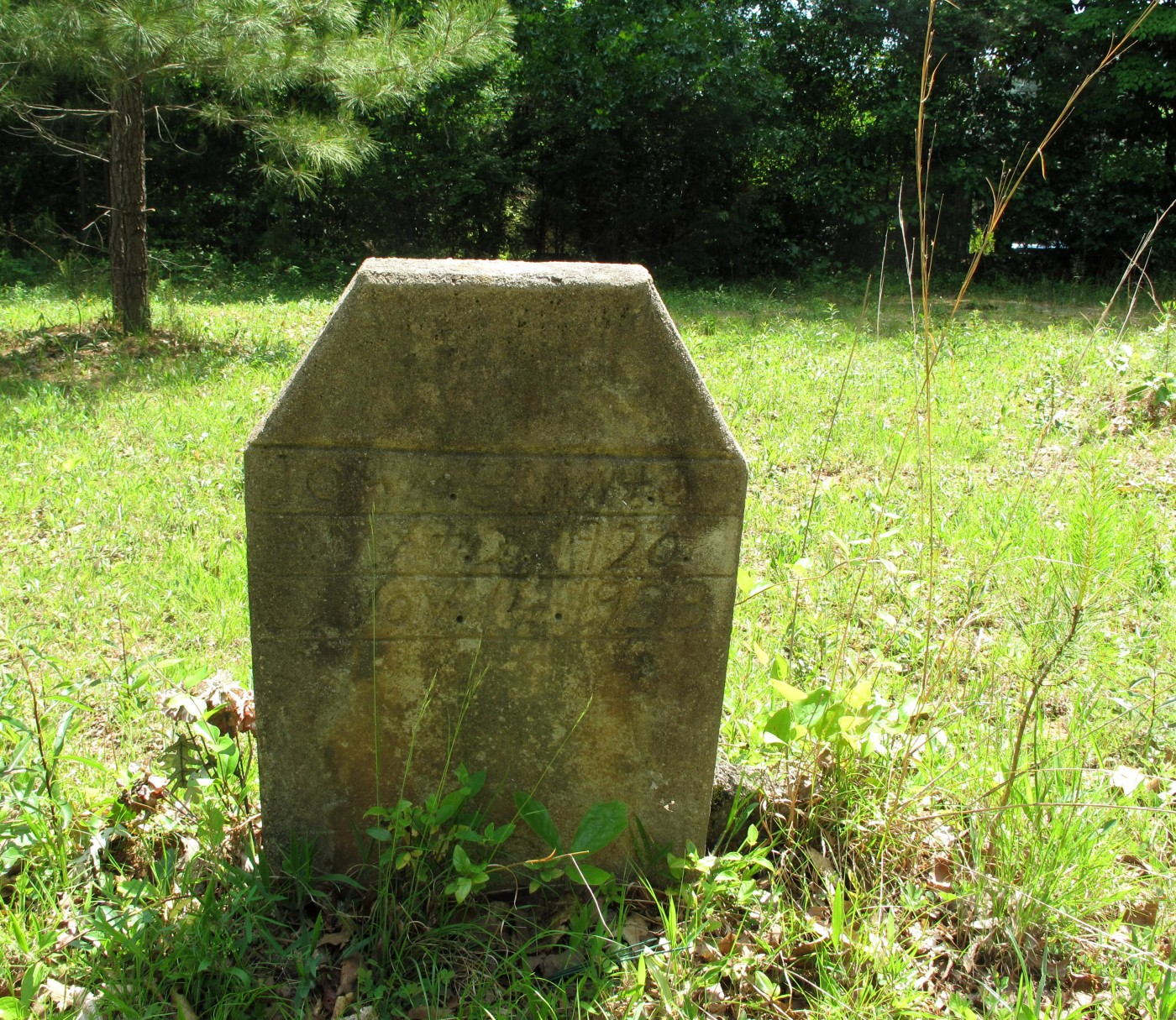 headstone in Porter Road cemetery